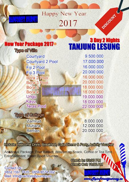 Paket Tahun Baru 2017 Villa Tanjung Lesung