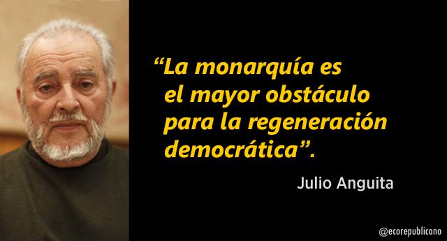 """Julio Anguita: """"La monarquía es el mayor obstáculo para la regeneración democrática"""""""