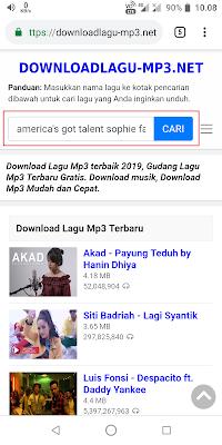 Setelah halaman terbuka, Sobat bisa langsung ketik judul video yang akan Sobat download musiknya di kolom pencarian. Jika sudah Sobat klik Cari.
