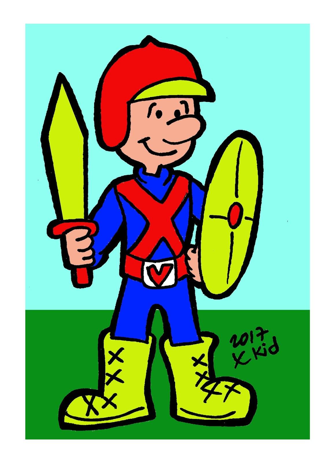 Quadrinhos Biblicos Soldado De Cristo Para Colorir