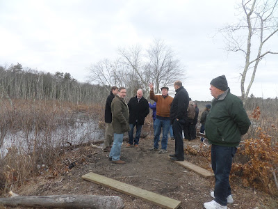 Members of the Charles River Meadowlands Initiative met with officials from Bellingham and state legislators on Tuesday (Photo courtesy of Marjorie Turner-Holman)