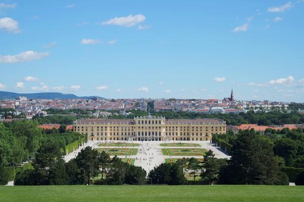 vienne vienna panorama schönbrunn gloriette hietzing 13 arrondissement