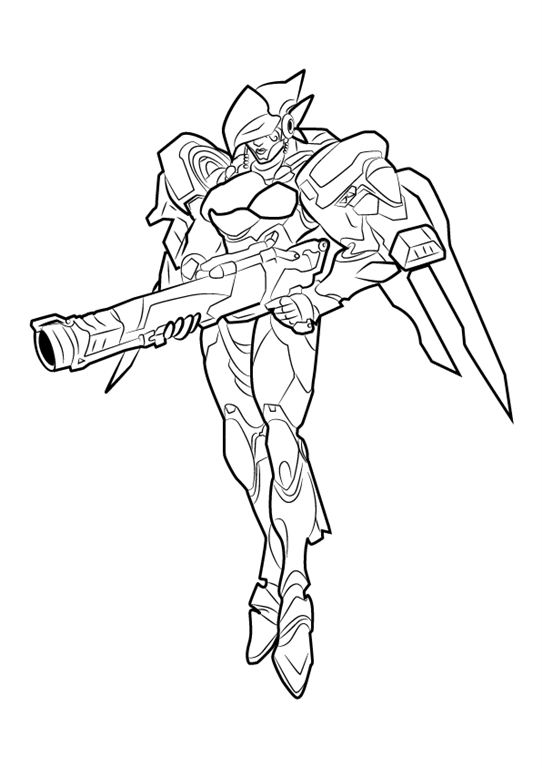 Coloring pages for kids free images: Overwatch free coloring pages