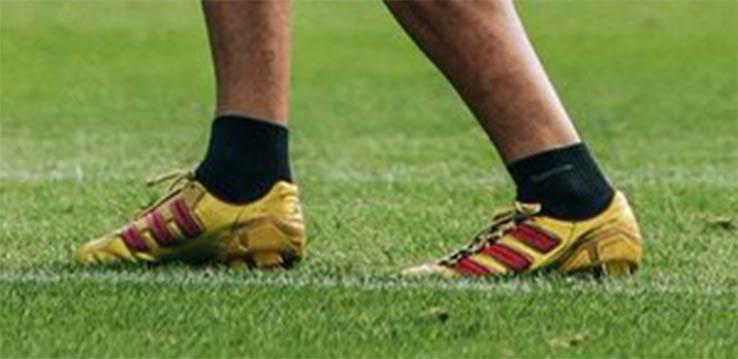 0ea33721d176 Assou-Ekotto Shows Off Golden Adidas Adipower Predator Boots ...