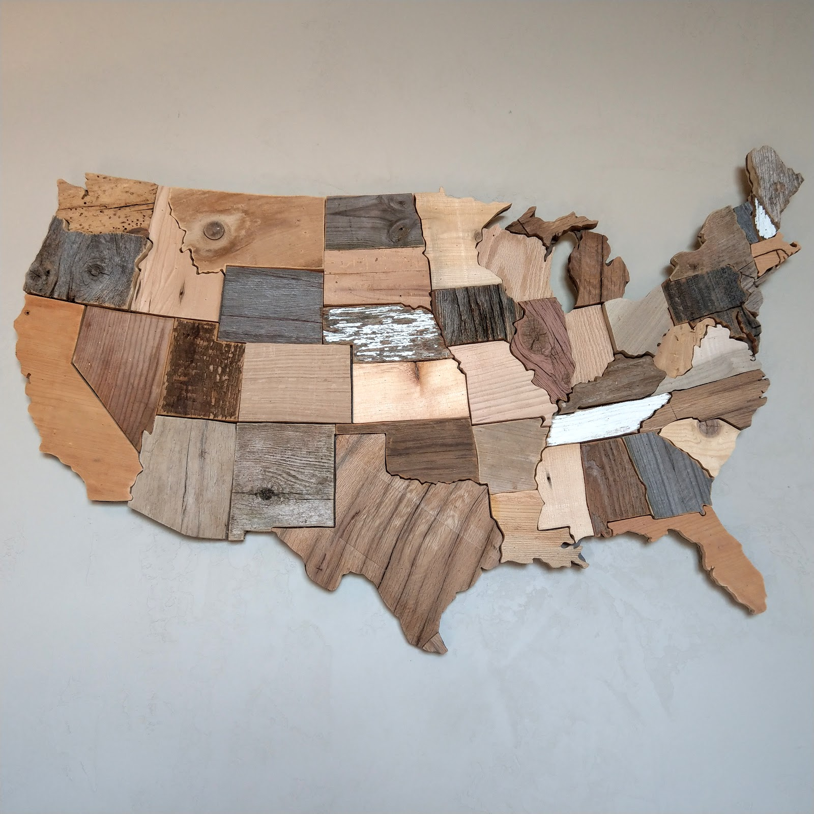 World map art us map art reclaimed wood art by susan marie may us map art made from pallet barn and other reclaimed woods by susan marie may gumiabroncs Choice Image