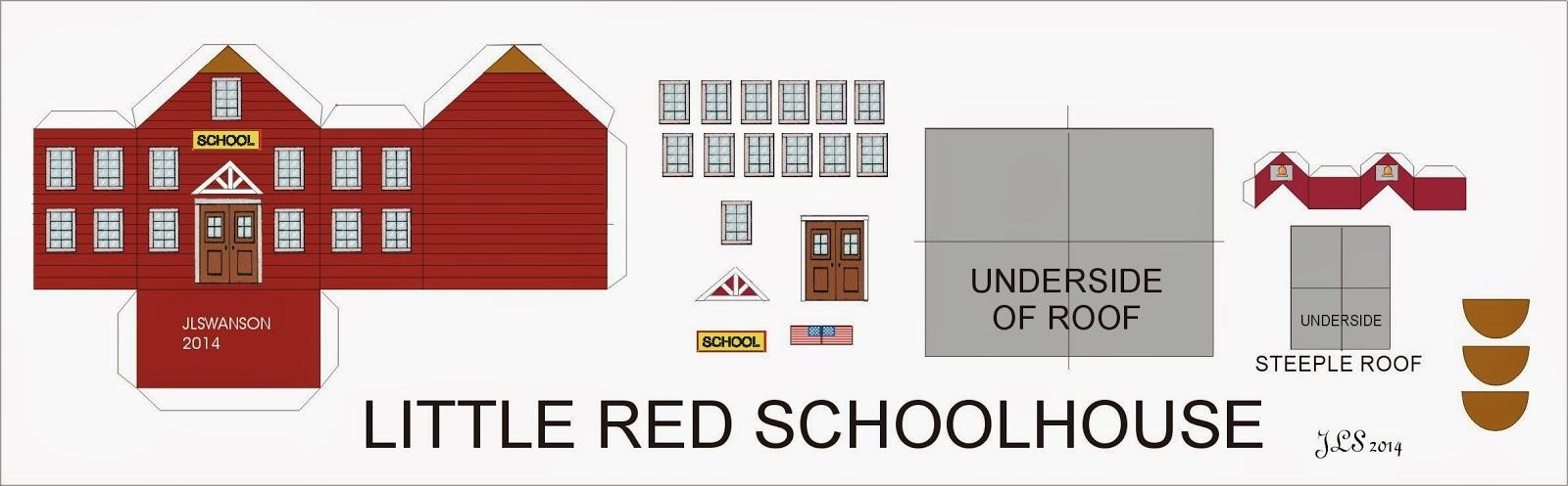 Dyi Dollhouse Miniatures The Little Red Schoolhouse