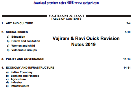 Vajiram & Ravi Quick Revision Notes 2019 pdf Download - SscTyari