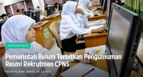 Humas BKN: Pemerintah Belum Terbitkan Pengumuman Resmi Rekrutmen CPNS