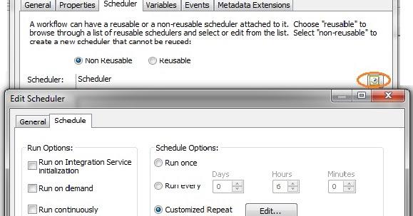 Scheduling Options of Informatica ETL tool workflows / Jobs
