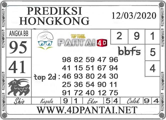 PREDIKSI TOGEL HONGKONG PANTAI4D 12 MARET 2020