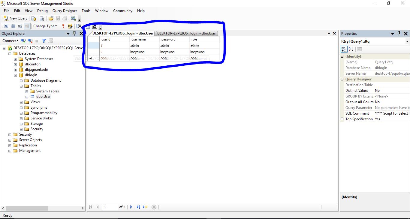 Cara Membuat Form Login VBNET Database SQL SERVER - Jagoan Kode