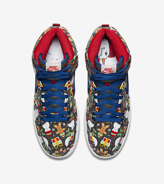 Nike SB Dunk High Ugly Christmas Sweater Insole
