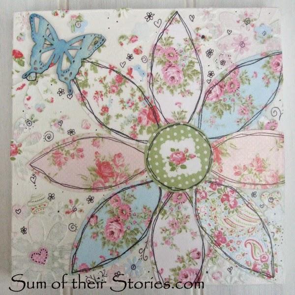 Flower Collage Canvas