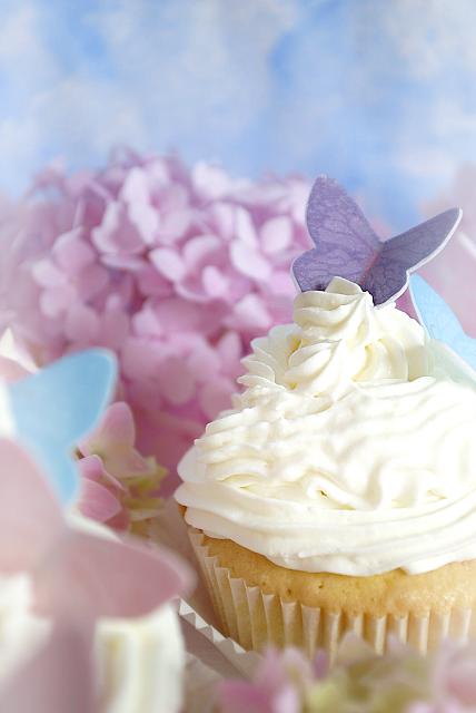 Cupcake mit Nougatfüllung