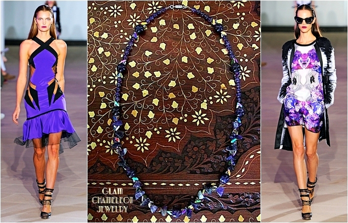 Glam Chameleon Jewelry amethyst necklace