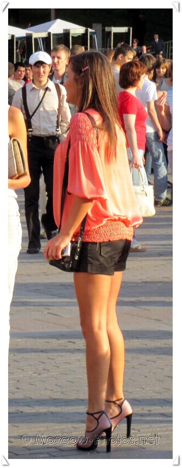 Cool Moscow girl on stilettos