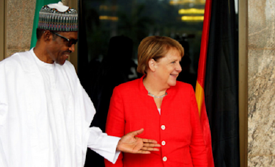 Angela Merkel Arrives Abuja (Photos)