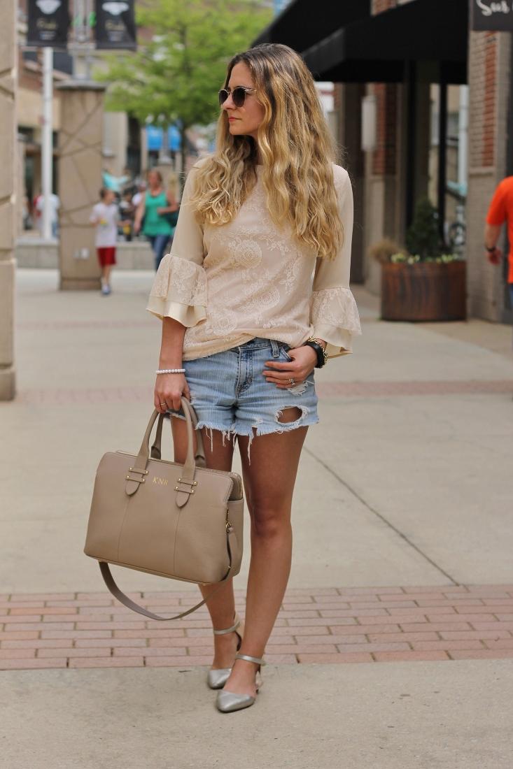 Ruffle and Lace blouse