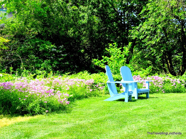 Garden chairs at Chanticleer