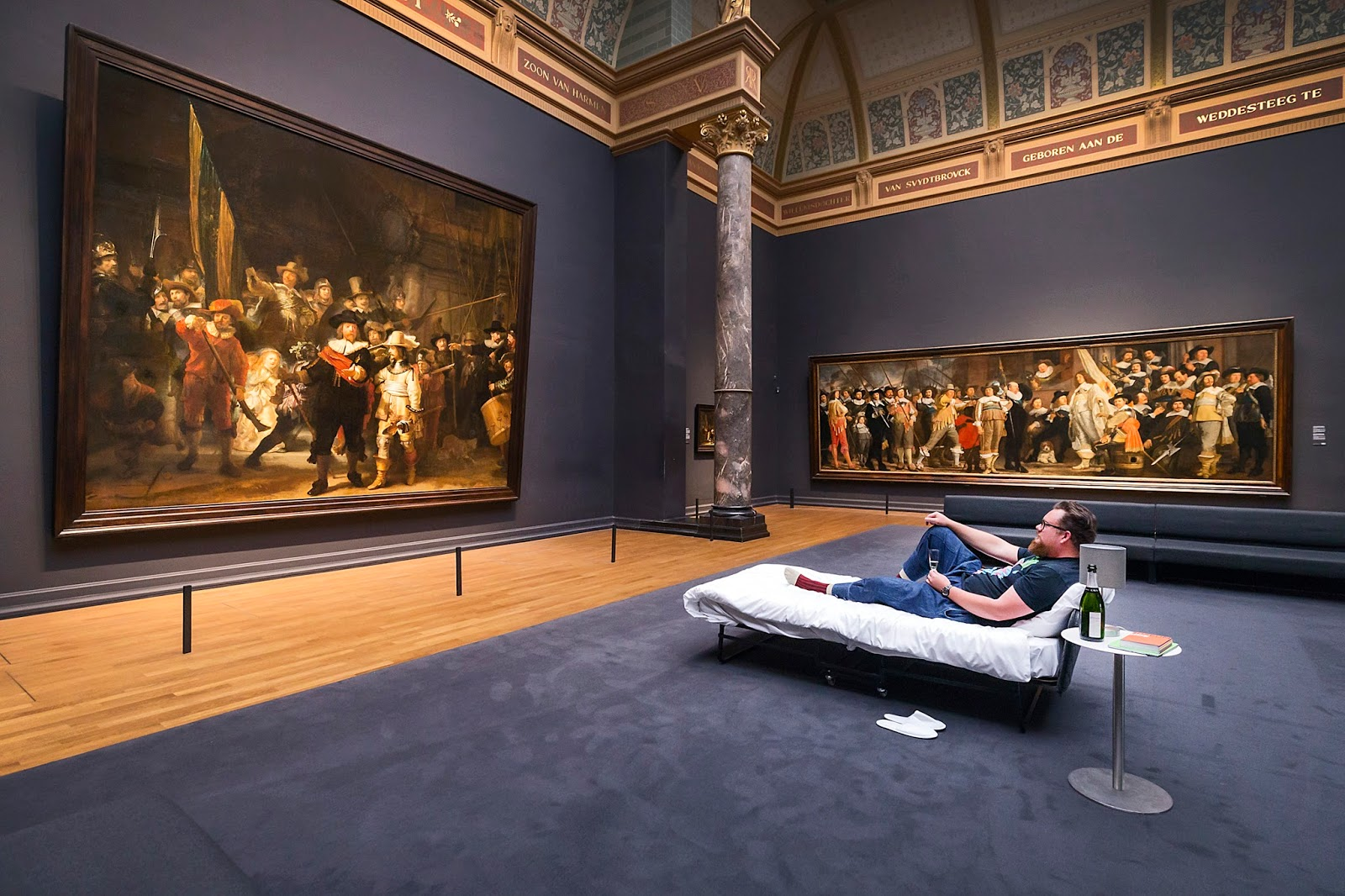 Rijksmuseum's Amsterdam 10 millionth visitor slept  'together with