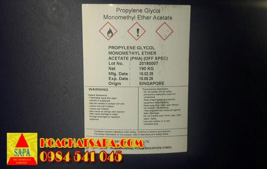 Dung môi Propylene Glycol Monomethyl Ether Acetate PMA