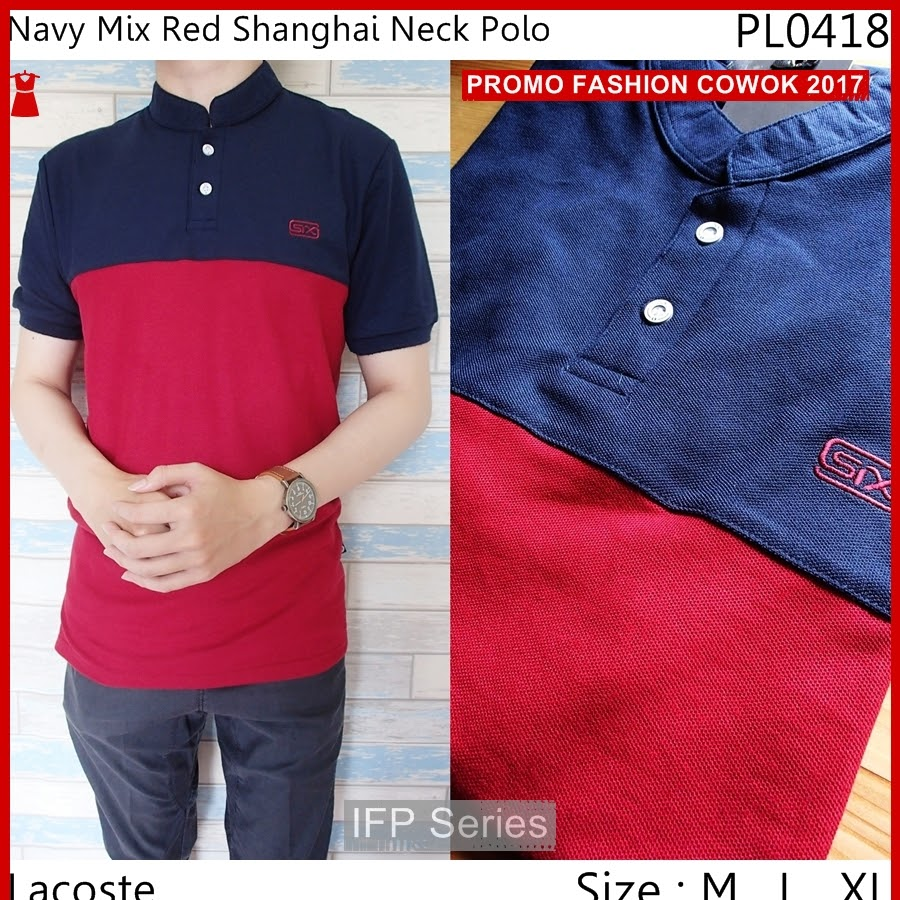 BIMFGP008 Red Kaos Polo Fashion Pria PROMO