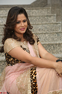 Shilpa Chakravarthy in Lovely Designer Pink Saree with Cat Print Pallu 060.JPG