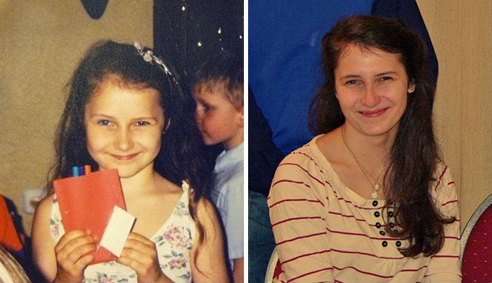 30 Beautiful Recreations Of Childhood Pictures - When You Realise You Looked The Same At The Age 6 And 18