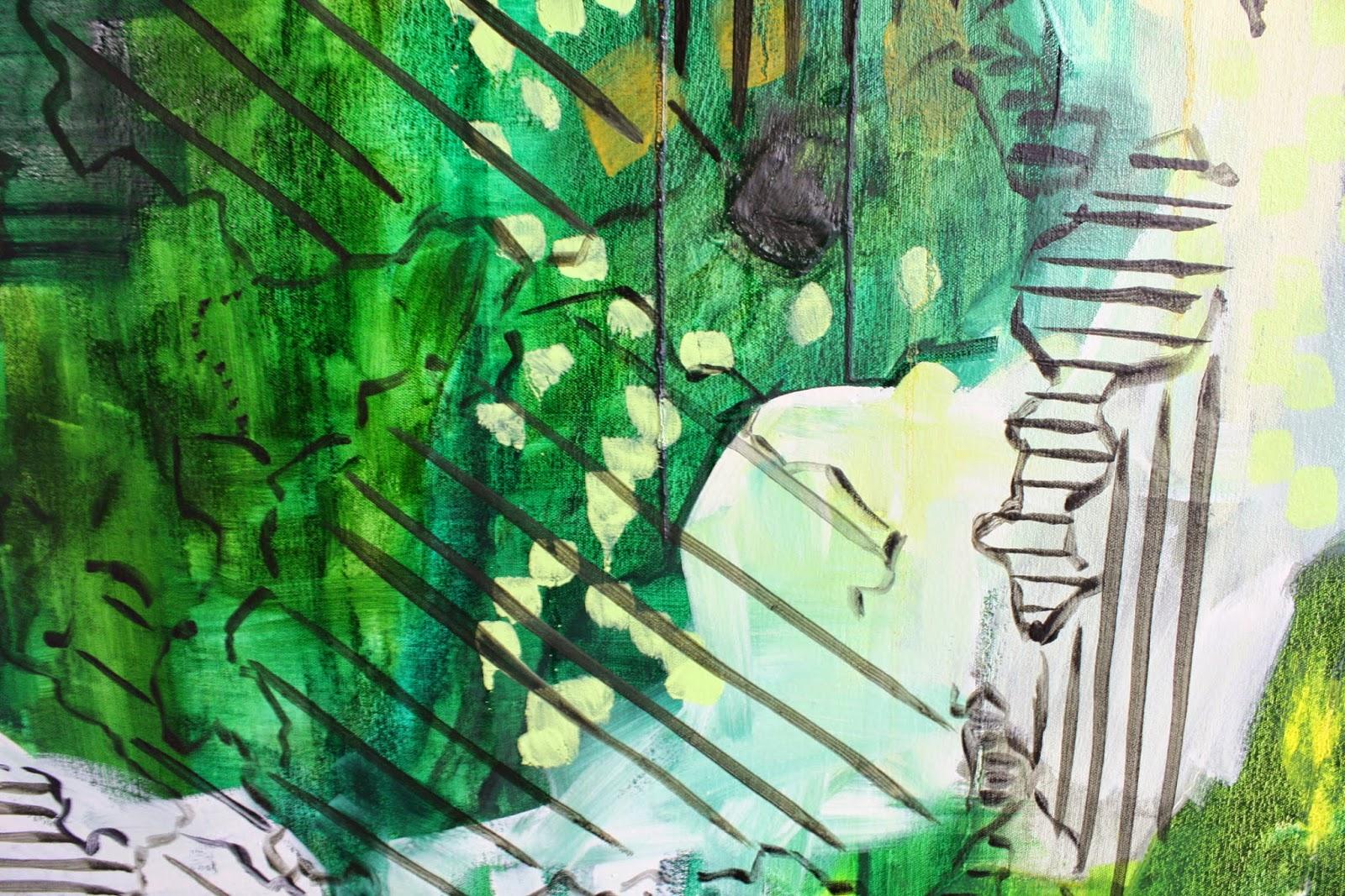 Painting detail, Abigail Box