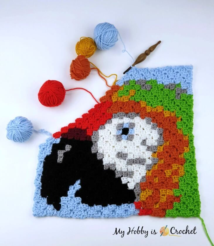 Macaw ParrotC2C Square - work in progress
