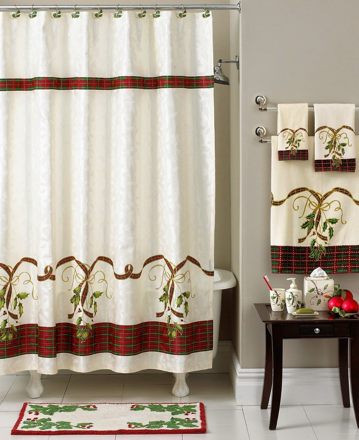 Christmas Shower Curtains - New Home Soulmates