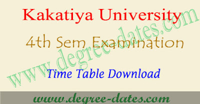 KU degree 4th sem time table 2018-2019, ku degree results 2018