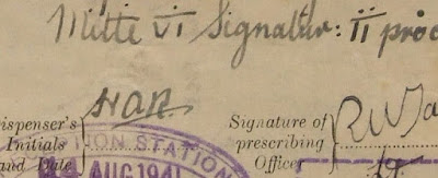 Close-up of Prescription for Josef Jakobs (courtesy of Royal Armouries)