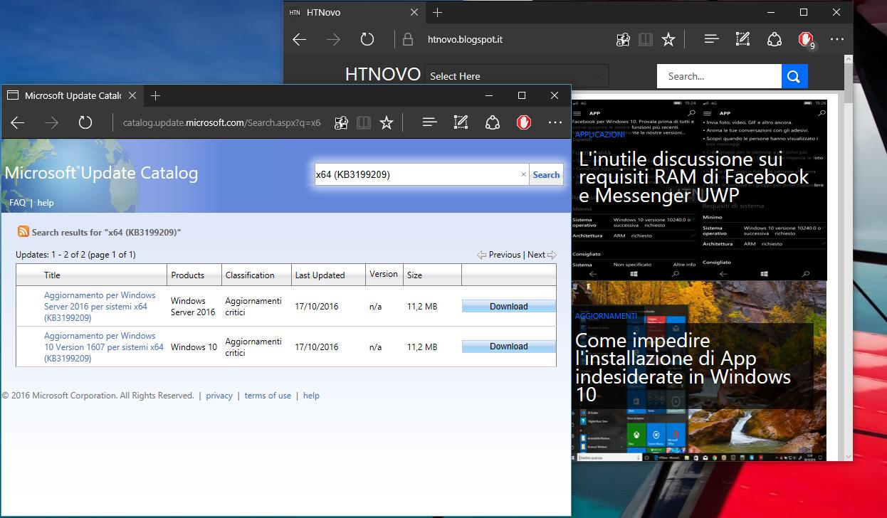 Come installare manualmente gli Aggiornamenti di Windows 10 3 HTNovo Cliccando sul tasto Search