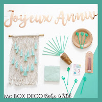 box deco anniversaire boho save the deco