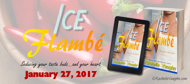 ice flambe by romance author rachelle vaughn