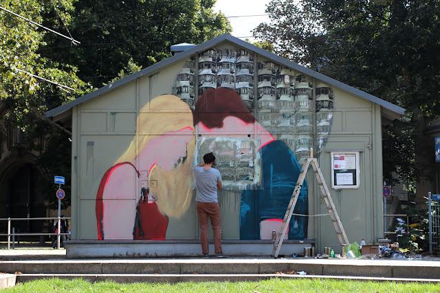 Street Art By Jana & Js In Dusseldorf, Germany For 40° Urban Art festival. 2