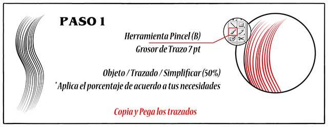 Tutorial en español de Adobe Illustrator para Crear Cabello Estilizado Paso 01