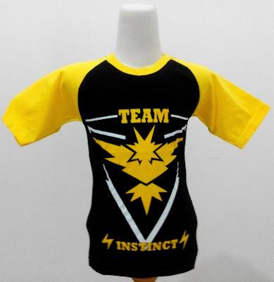 Kaos Raglan Anak Karakter Team Instinct Hitam