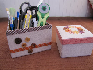 bordado, caja, cartonnage, punto cruz, otoño, boite, box, point croix, cross stitch, automne, autumn