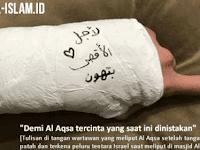 """SUBHANALLAH… Tangannya Patah Dihajar Israel, Wartawan Ini Menulis """"Demi Al Aqsha tercinta yang saat ini dinistakan"""""""