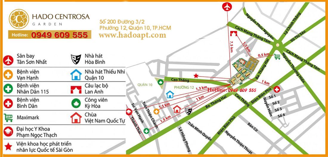 Bản đồ vị trí Hà Đô Centrosa Garden