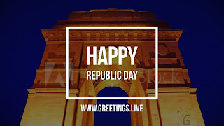 India Gate Happy Republic Day wishes HD Image