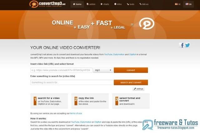 Convert2MP3 : un autre service web de conversion de vidéos