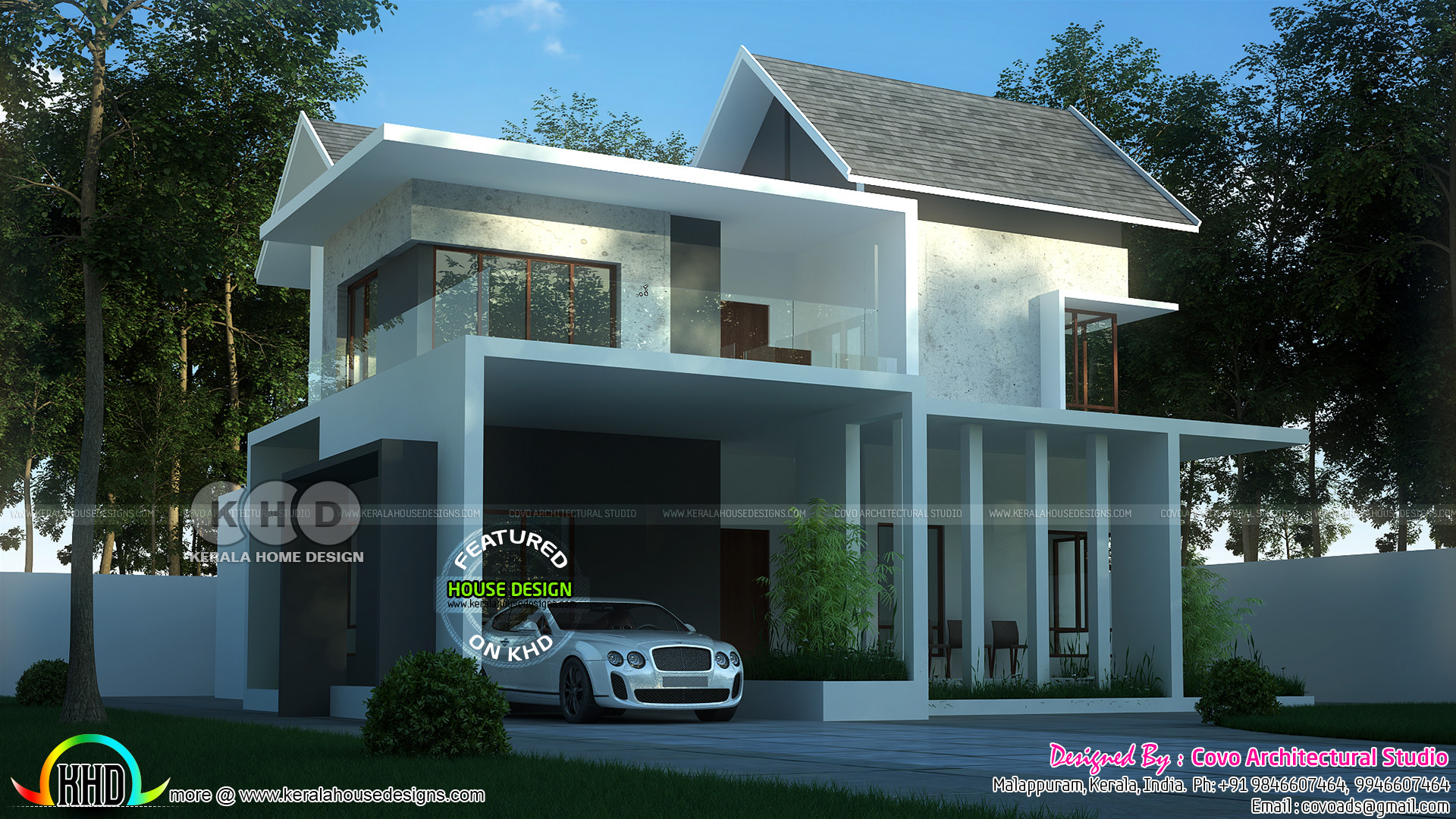 4 Bedroom Mixed Roof Contemporary Home Kerala Home