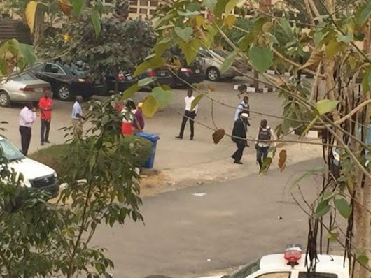 Photos of Afe Babalola University students go on rampage