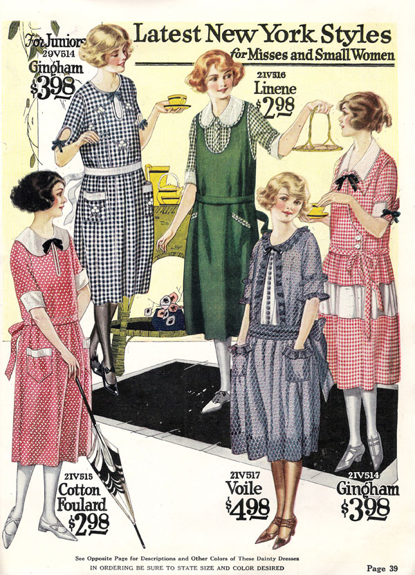1922 Nationals Catalog of House Dresses
