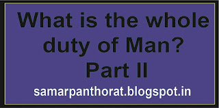 What is the whole duty of Man? – Part II