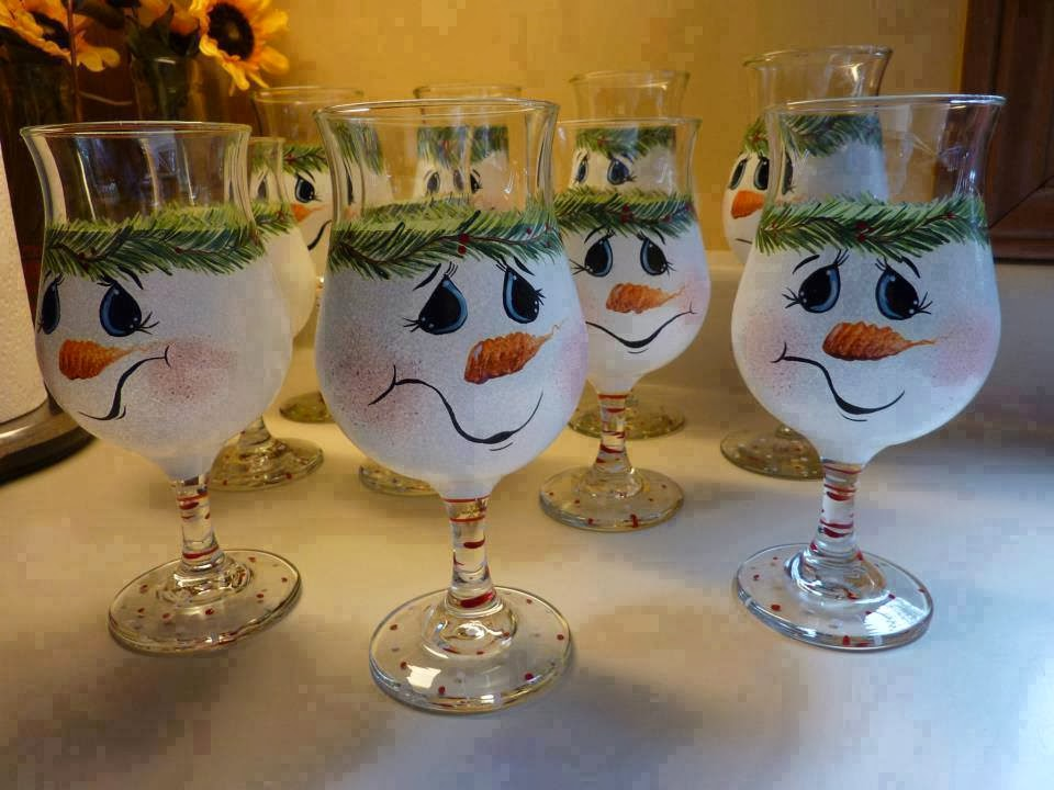 Imagenes fantasia y color manualidades faciles para for Christmas glass painting designs