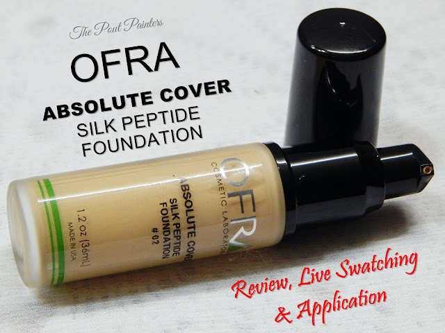 OFRA Absolute Cover Silk Peptide Foundation Review Swatches